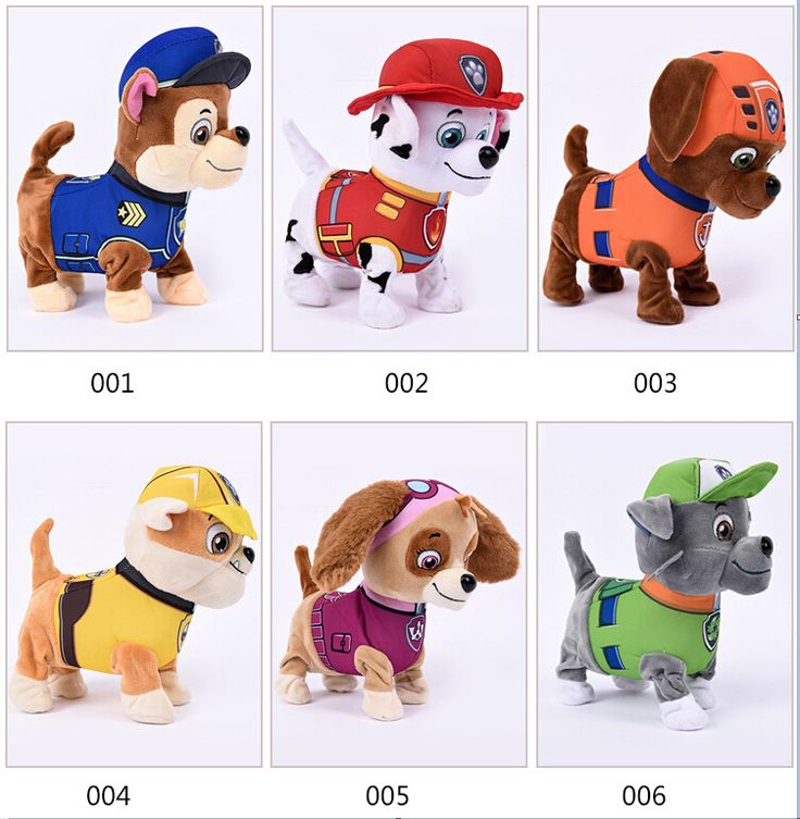 Puppy Patrol Walking Barking Plush Dog Robot Musical Interactive Toy Dog Electric Pets Plush Toys For Kids Battery Dog Toy Gifts