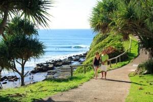 Caloundra Coastal Path, #airnzsunshine  Moffat Beach, just before THE HILL!