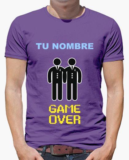 Camiseta Despedida de Soltero NOMBRE PERSONALIZADO, GAME OVER Gays **LEER DESCRIPCIÓN**