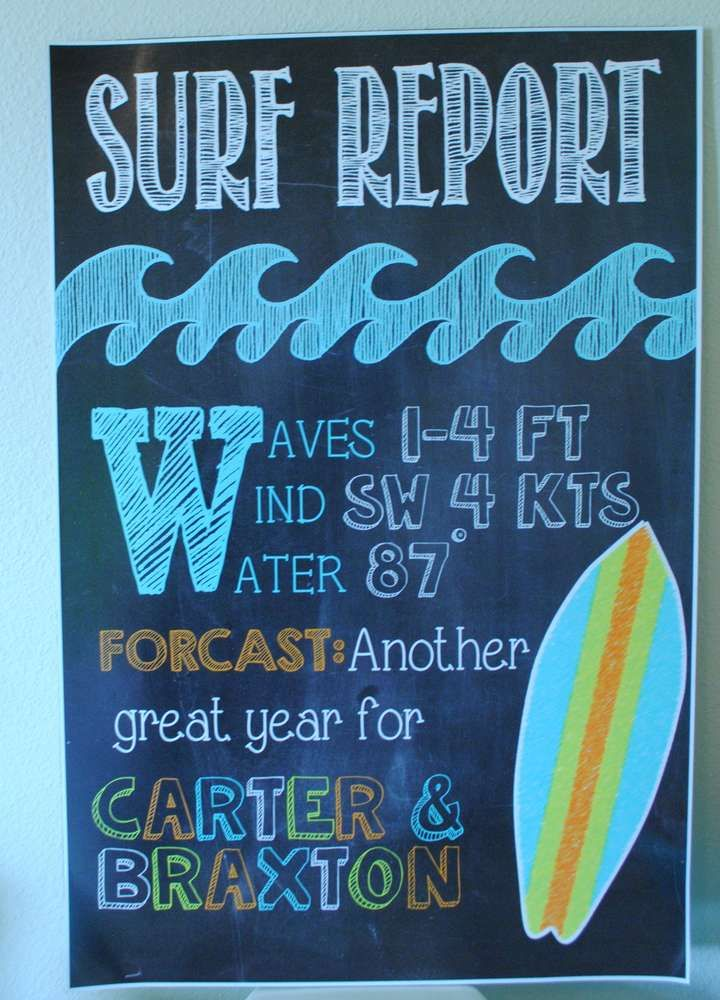 """Surfer Boy"" themed party by Ashleigh Nicole Events 