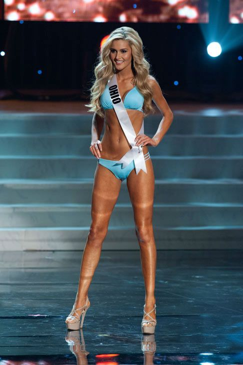 Miss Ohio poses in a bikini during the Miss USA Presentation Show on May 30 from the Planet Hollywood Resort in Las Vegas, Nevada. The 2012 MISS USA Pageant