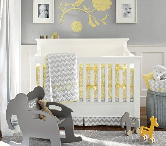 Georgia Baby Bedding Pottery Gray Yellow Nursery And