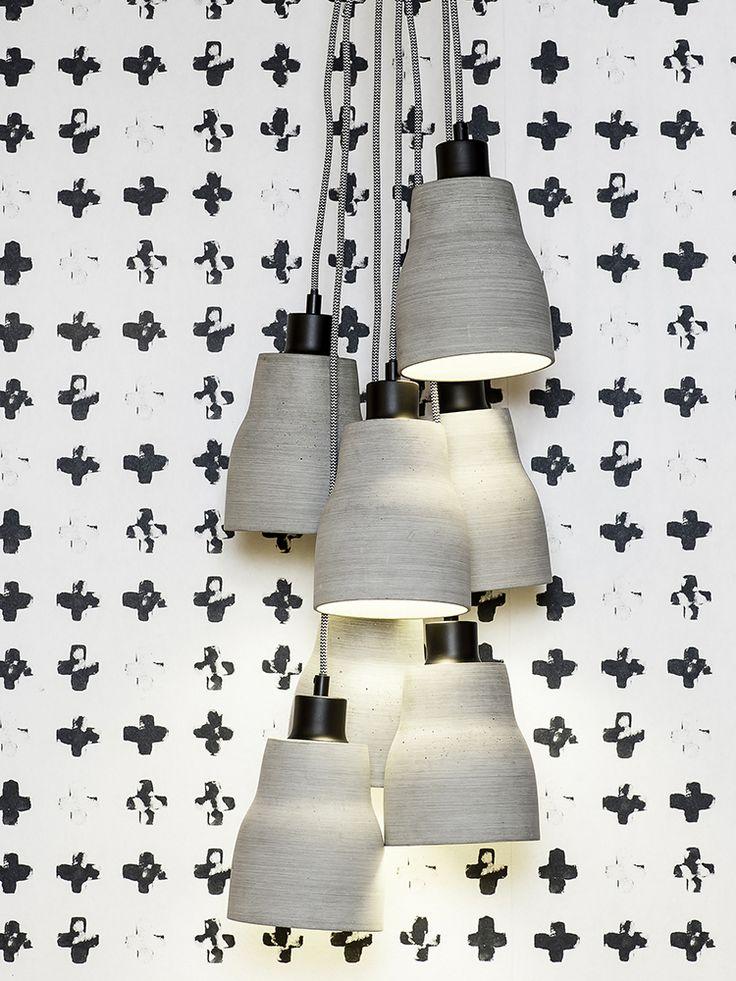 Lampa din ciment , un element decorativ minimalist. Lumineaza-ti gandurile! La puterea luminii.