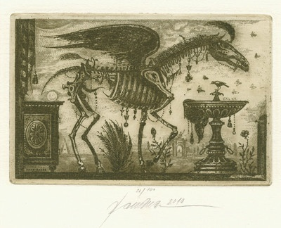 Ex libris Exlibris PEGASUS DURING THE CRISIS by BAUER MILAN /cze