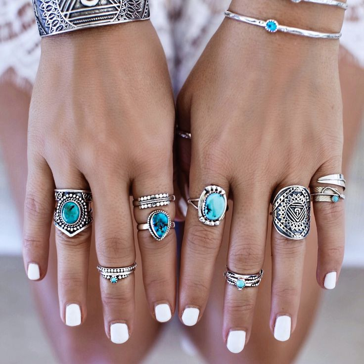 GypsyLovinLight in some sterling and turquoise lovelies by Indie and Harper.