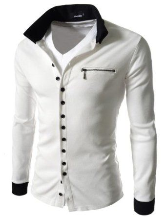 TheLees Mens Casual Slim Fit 2 Tone Button Cardigan