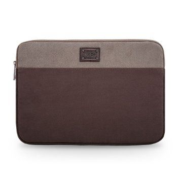 Caison Men Portable Suede 11 inches Laptop Sleeve Case Protector Skin Bag Pouch for Notebook Ultrabook Apple Macbook Air 11 / Lenovo ThinkPad / HP Hewlett-Packard / Acer / TOSHIBA / ASUS / DELL ,Grey