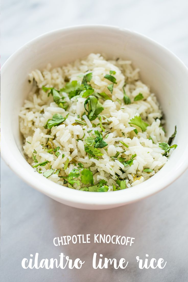 This quick, easy and delicious Chipotle Knockoff Cilantro Lime Rice tastes just like the rice at Chipotle or Wahoos- and takes just 5 ingredients & one pot!