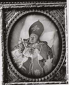 [Death Photo]J oseph Crétin - Joseph Cretin (19 December 1799 – 22 February 1857) was the first Roman Catholic Bishop of Saint Paul, Minnesota. Cretin Avenue in St. Paul, Cretin-Derham Hall High School, and Cretin Hall at the University of St. Thomas are named for him.