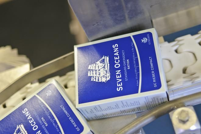 Seven OceanS® Emergency Ration -     Complies with SOLAS/ISO 18813:2006 and E.C. Directive 98/83.