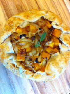 Rich and Sweet: Butternut Squash and Caramelized Onion Galette