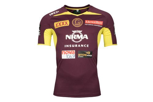 ISC Brisbane Broncos NRL 2018 Players Rugby Training T-Shirt, £25.00