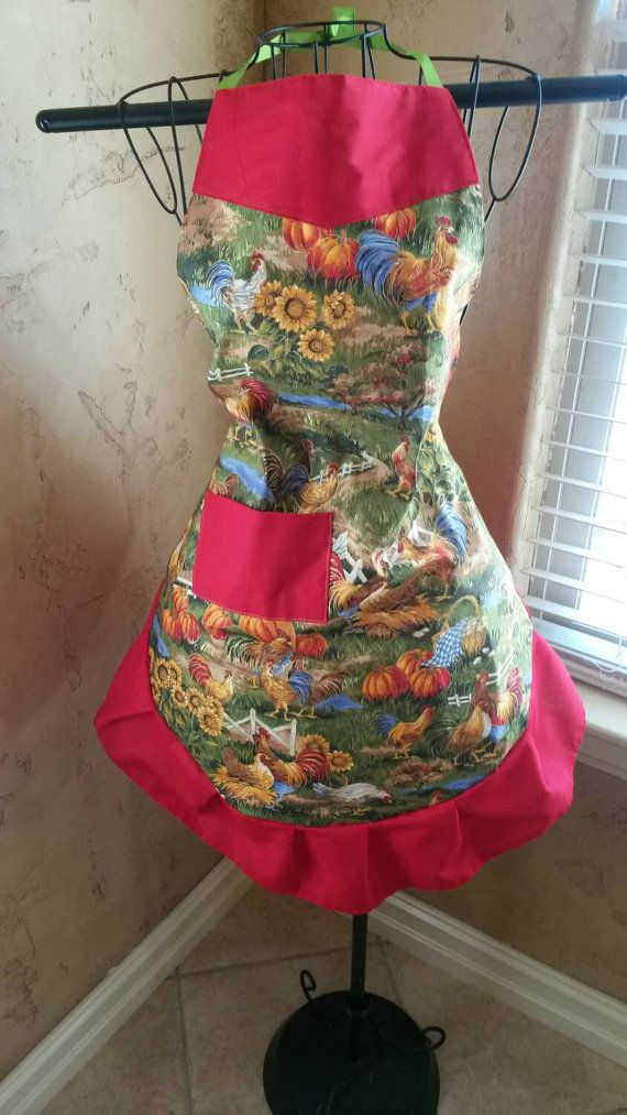 Check out this item in my Etsy shop https://www.etsy.com/listing/218780750/rooster-country-living-apron