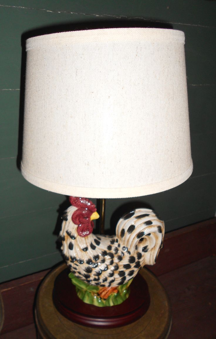 Certified international parisian fruit canister by susan winget set - Ceramic Rooster Lamp