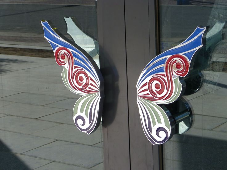 Butterfly door handles, Kingston Foreshore