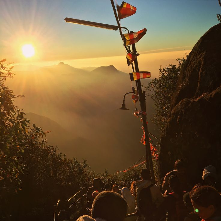 17/1-2017 6000 steps in one long stair up to Adams Peak. Took us 2,5 hours, for a barely not worth experience. Crowded with people and a poor sunrise. Adams Peak, Sri Lanka