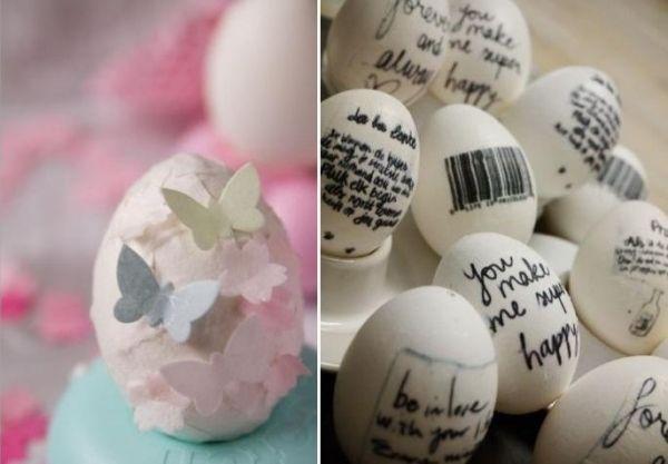 ostereier bemalen ausgeblasene eier marmorieren ostereier ideen. Black Bedroom Furniture Sets. Home Design Ideas