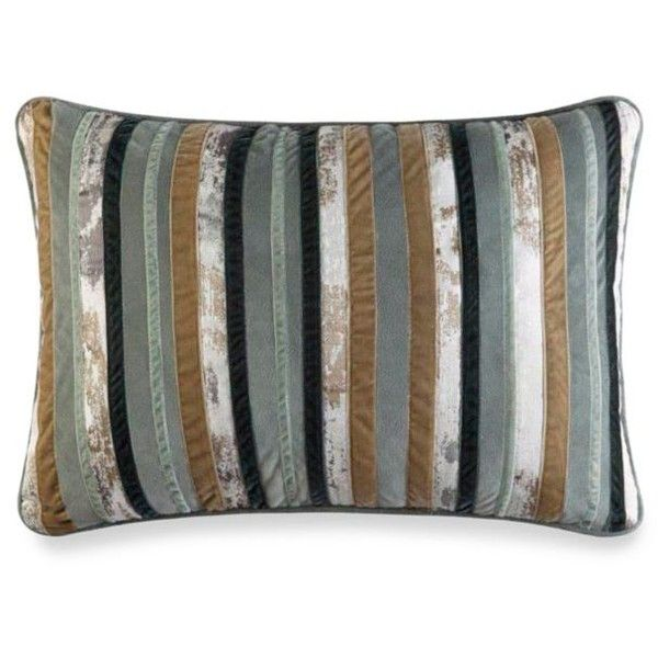 J Queen New York Green Seville Boudoir Pillow (18 KWD) ❤ liked on Polyvore featuring home, bed & bath, bedding, bed pillows, green, rustic bedding sets, rustic bed sets, green bed set and green bedding sets