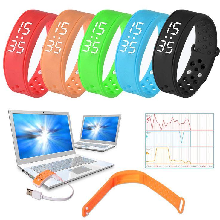 Livraison gratuite Multifonction W6 Sport Santé Podomètre Intelligent Portable Équipements de Remise En Forme Bracelet Montre Bracelet