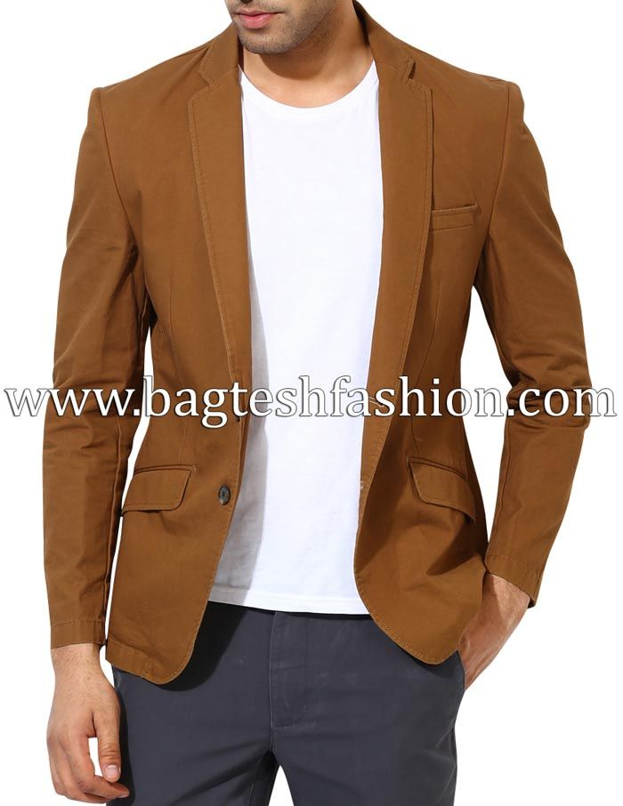 Formal Two Button Slim Fit Cotton Blazer