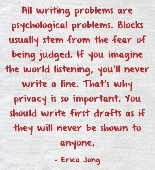 Sound advice. Unless you're in a writing group that you really, really trust. Then sharing is a good thing. --Laura Davis & The Writer's Journey www.lauradavis.net