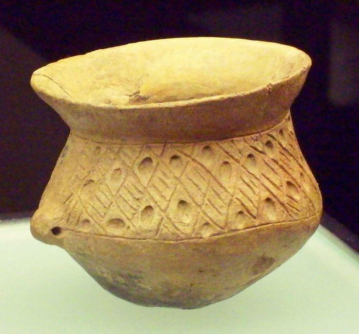 Vaso de Fabara  Campos de Urnas Mamelón perforado horizontalmente a la altura de la carena 900 ac. Bronce final-Hierro inicial