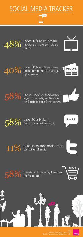 Smakebiter fra TNS Gallups medieundersøkelser: Social Media Tracker - TNS Innsikt - TNS Gallup