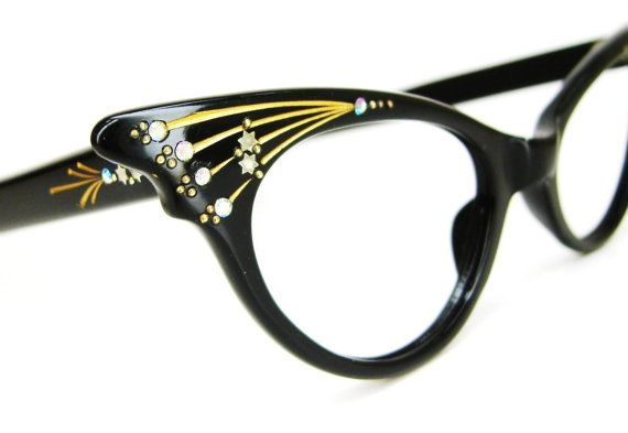 Vintage 50s French Cat Eye Glasses Sunglasses by Vintage50sEyewear, $142.00