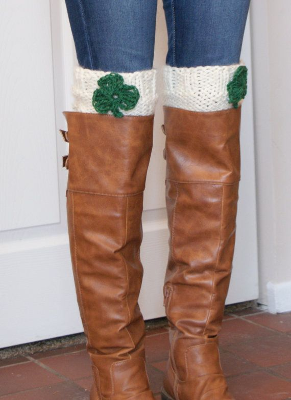 Shamrock #Bootcuffs Cute St. Patrick's Day outfit to be parade ready