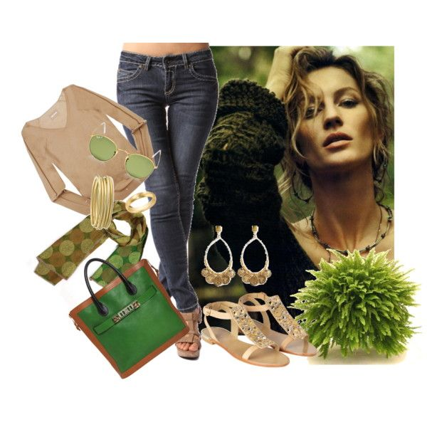 Green casual, created by dea-afrodite on Polyvore