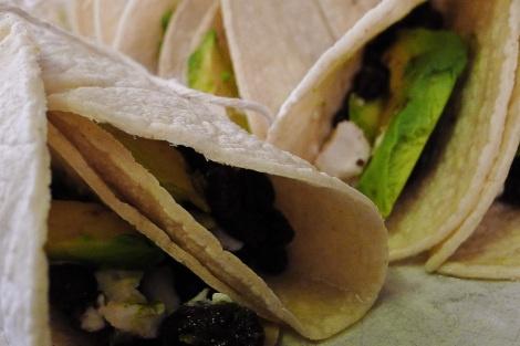 Black Bean Avacado and Goat Cheese Tacos Recipe