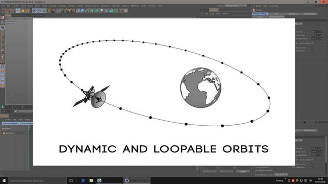 Create dynamic elliptical orbits following Kepler's Laws of Planetary Motion and to LOOP ALIGN TO SPLINE with Xpresso. Heavenly bodies have elliptical orbits and they move along those orbits with different velocity, faster approaching the main body and slower moving away.