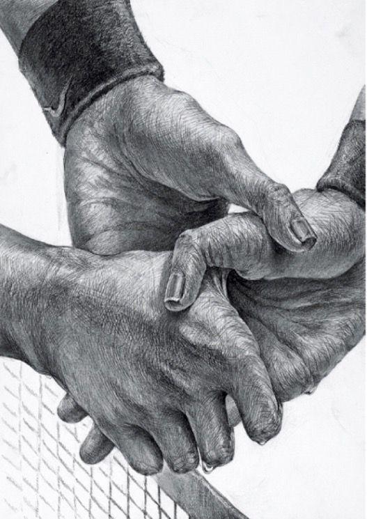 2015年多摩美グラフィックデザイン合格作品 手を握る両手