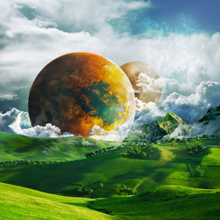 Fantasy Landscape Wallpaper: 24 Best Images About Sci Fi Planets And Skies On Pinterest