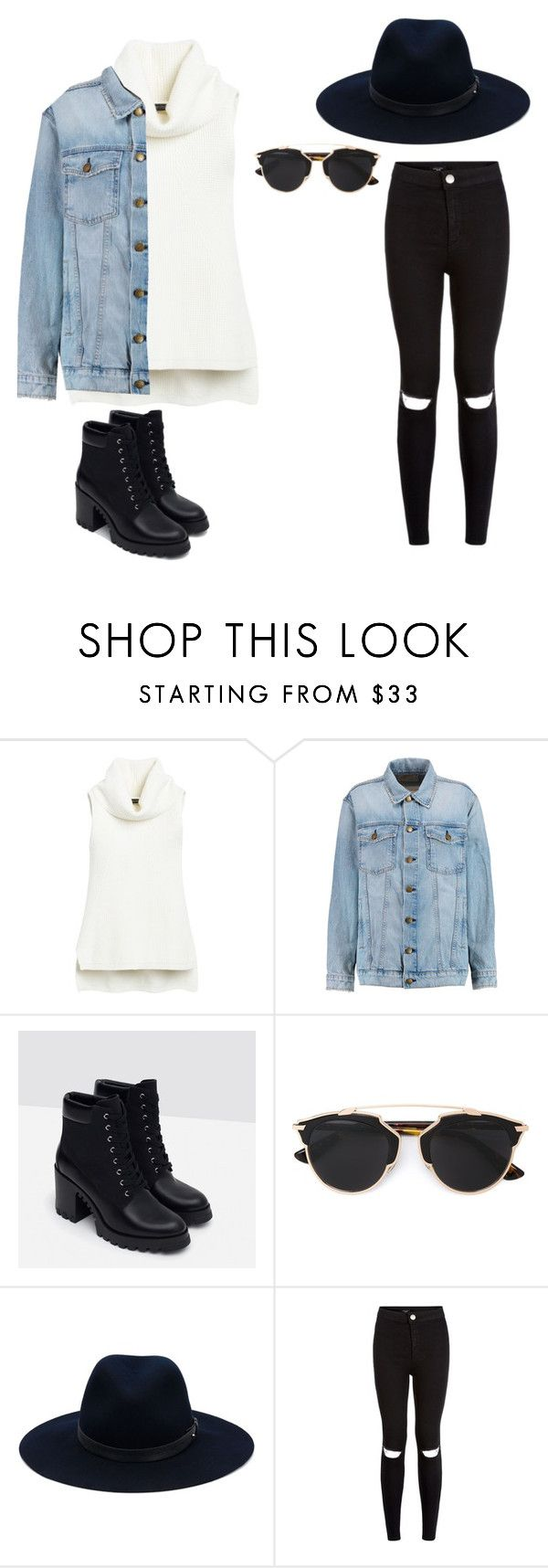"""""""Untitled #15"""" by molly-mahaffey on Polyvore featuring White House Black Market, Current/Elliott, Zara, Christian Dior, rag & bone, women's clothing, women, female, woman and misses"""