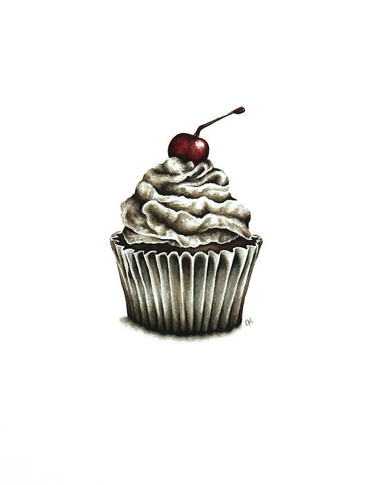 Cupcake Painting by Christina Meeusen - Cupcake Fine Art Prints and Posters for Sale