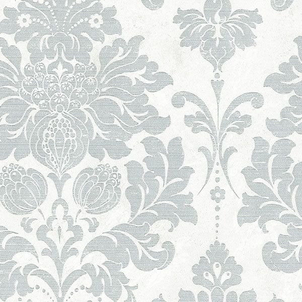 Wallpaper Inn Store - White marble Silk with Silver Damask, R739,95 (http://shop.wallpaperinn.co.za/white-marble-silk-with-silver-damask/)