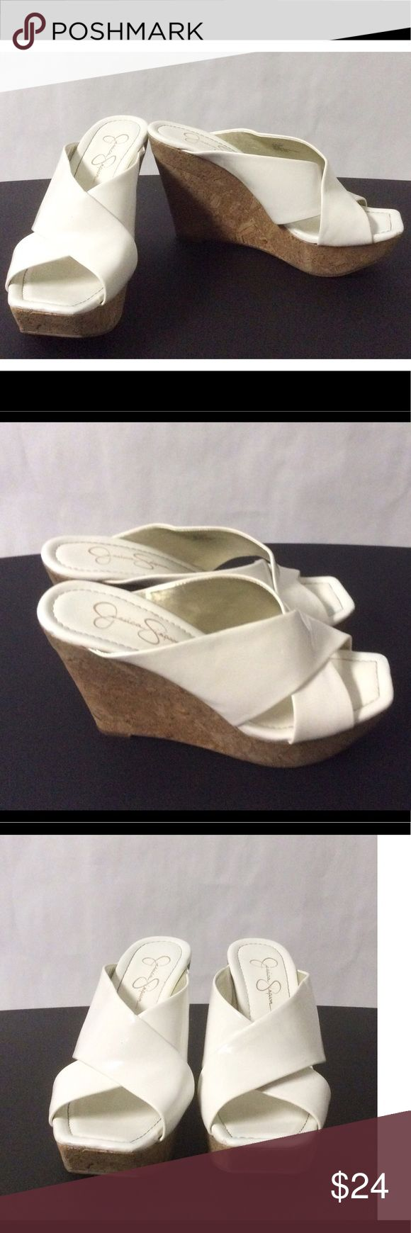 Jessica Simpson Wedges Size 8B 4 inch heels Jessica Simpson Shoes Wedges
