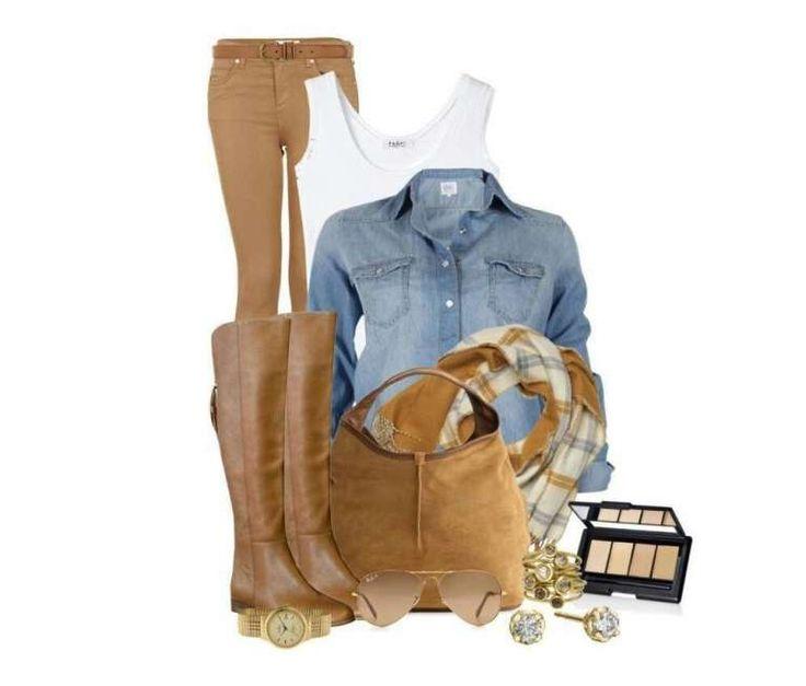 Camicia di jeans e accessori safari - Look del giorno casual chic che comprende una camicia di jeans, capo must have in questo autunno, e accessori beige dal mood safari. Come sicuramente vi sarete accorte, le camicie di jeans sono ovunque nelle ultime collezioni autunno inverno 2013-2014, da Zara a Mango, da Bershka ad H&M, nessuno ha resistito al fascino del buon vecchio denim. Come renderla più chic? Abbinando pantaloni marroni, top bianco, stivali beige o marroni con borsa o foulard ad…
