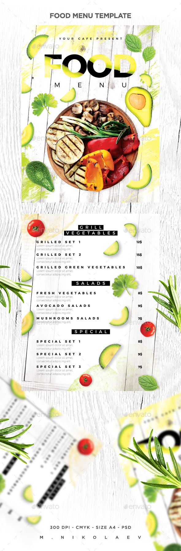 Food Menu - Food Menus Print Templates Download here : https://graphicriver.net/item/food-menu/19363674?s_rank=23&ref=Al-fatih