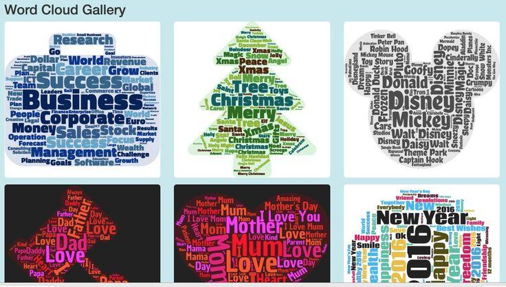 Wordclouds est un outil en ligne gratuit qui permet de créer de jolis nuages de mots pouvant avoir de nombreuses formes et couleurs.