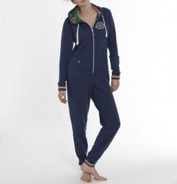 Rampant Sporting Women's Onesie - this All-in-one PJ is a great alternative to sweat pants and a hoodie, and will keep you cosy while lounging around the house - the perfect way to start Sunday morning.
