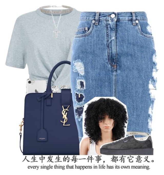 """""""cooler..."""" by fashion123123 ❤ liked on Polyvore featuring T By Alexander Wang, Yves Saint Laurent, Moschino, Tiffany & Co., Cartier and Puma"""
