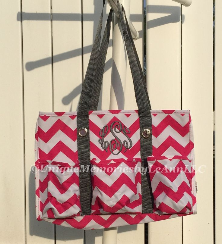 Chevron Canvas Tote/Beach bag  FREE Monogram or Name - Great for Graduation, Alumni, Dance, Cheer, Birthdays, Christmas by UniqueMemoriesLeAnn on Etsy