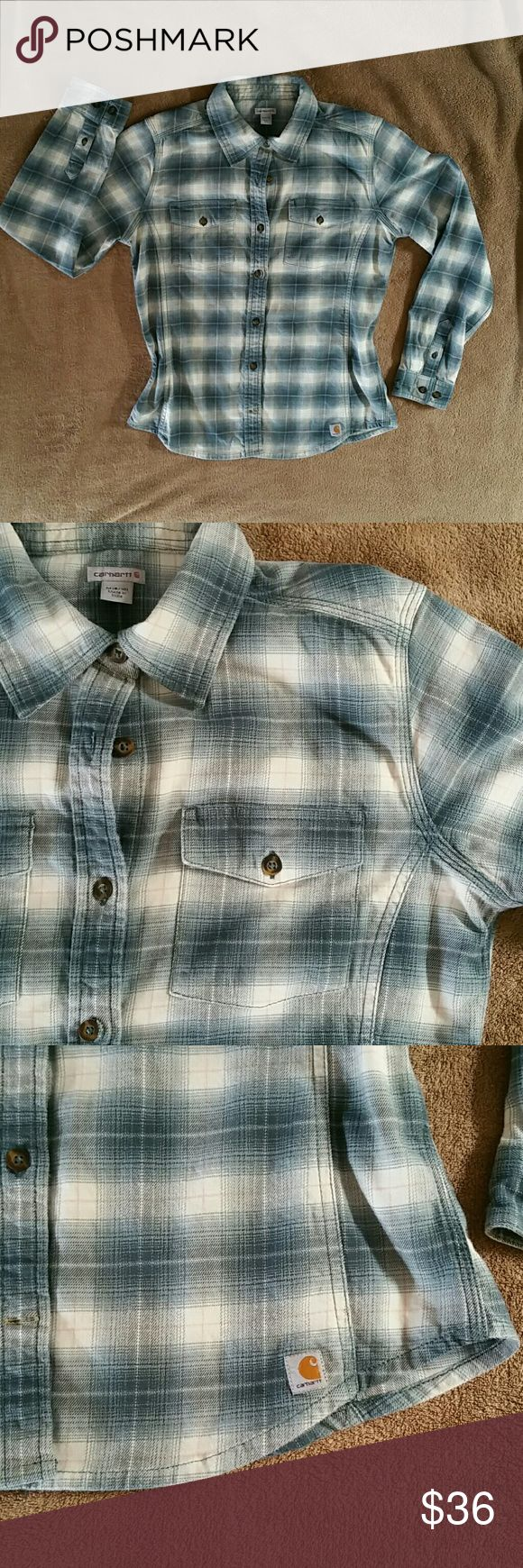 BNWT CARHART LADIES SEAMED FLANNEL BNWT CAR HART LADIES FLANNEL 97% Cotton/3% Spandex fit is 8/10 Beautifully seamed to flatter figure. Thicker flanner. Washed once and never wore. Sadly does nor fit me. Ordered from the Carhart catalog. Perfect for outdoor activities! Carhartt Tops Button Down Shirts