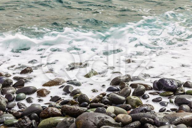 Qdiz Stock Images Stone ocean coast with waves,  #Atlantic #beach #coast #day #exposure #foam #island #long #nature #ocean #pebble #rock #rocky #sea #seashore #shore #sky #spring #stone #summer #Tenerife #water #wave #wet