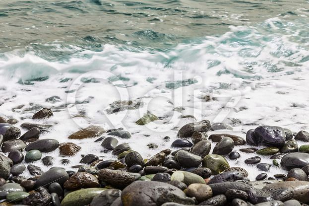 Qdiz Stock Images Stone ocean coast with waves,  #Atlantic #beach #coast #day #exposure #foam #island #long #nature #ocean #pebble #rock #rocky #sea #seashore #shore #sky #spring #stone #summer #Tenerife #water #wave #wet