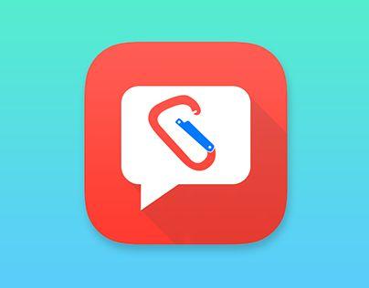 App icon - Climbing community http://be.net/gallery/36459295/App-icon-Climbing-community