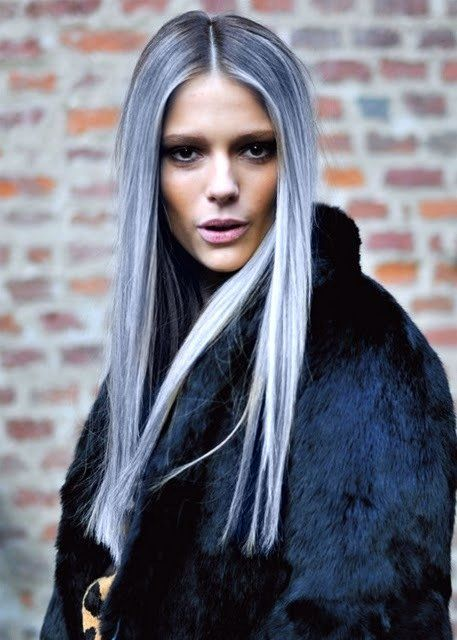 Silver ombré hair!