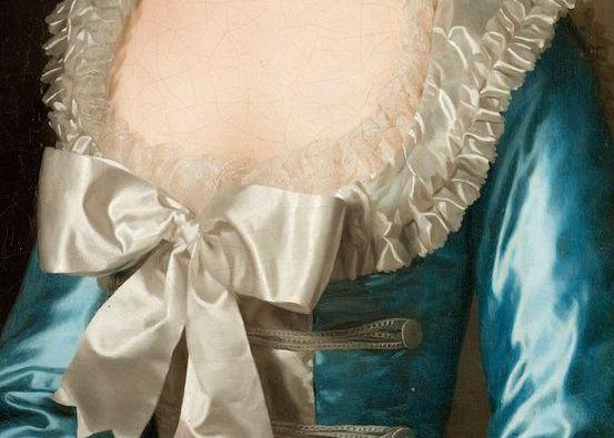 "Alexander Roslin, ""Portrait of a French lady, (Mademoiselle de Bionville) [Detail]"", 1780."